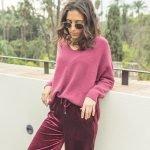 pantalon de terciopelo