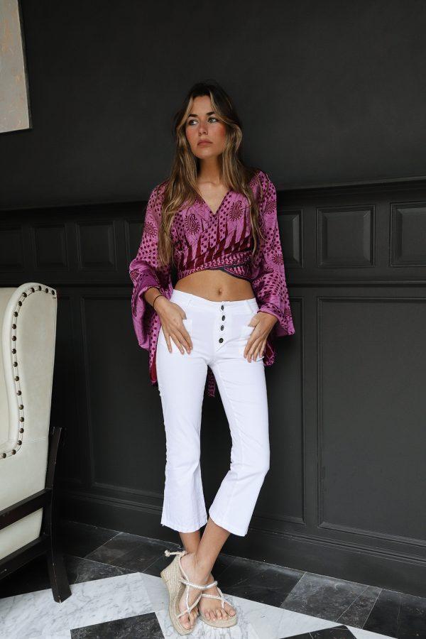 pantalón blanco Capri Salambo