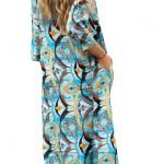 Espalda vestido camisero vesta color turquesa