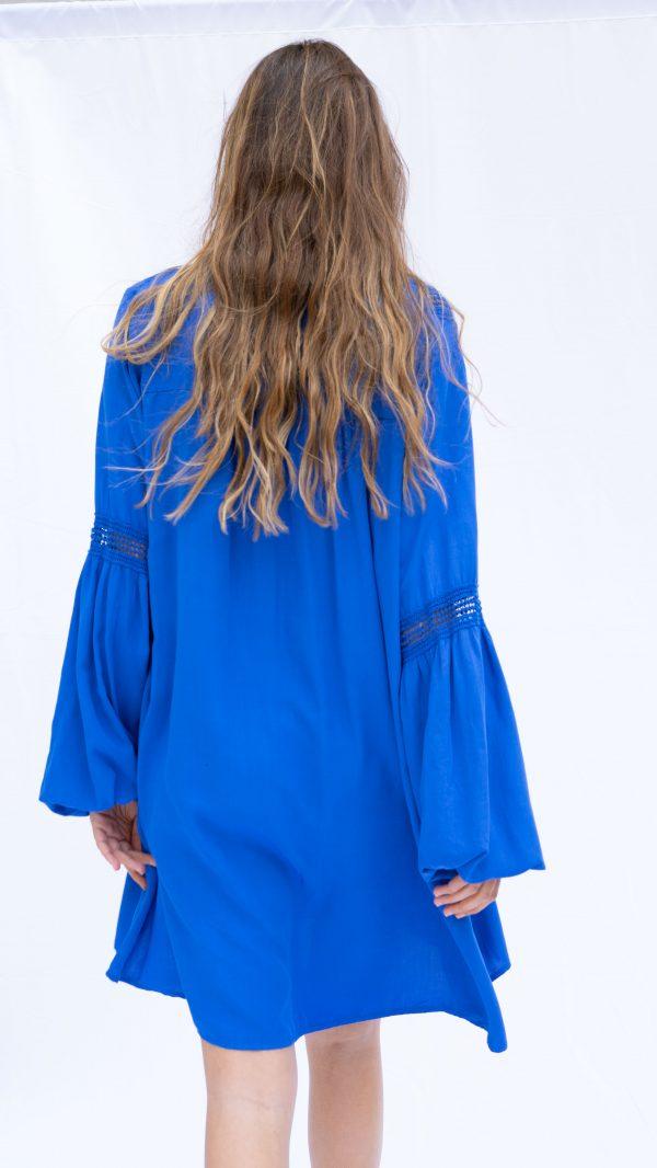 Vestido Rhus Salambó Azul añil espalda