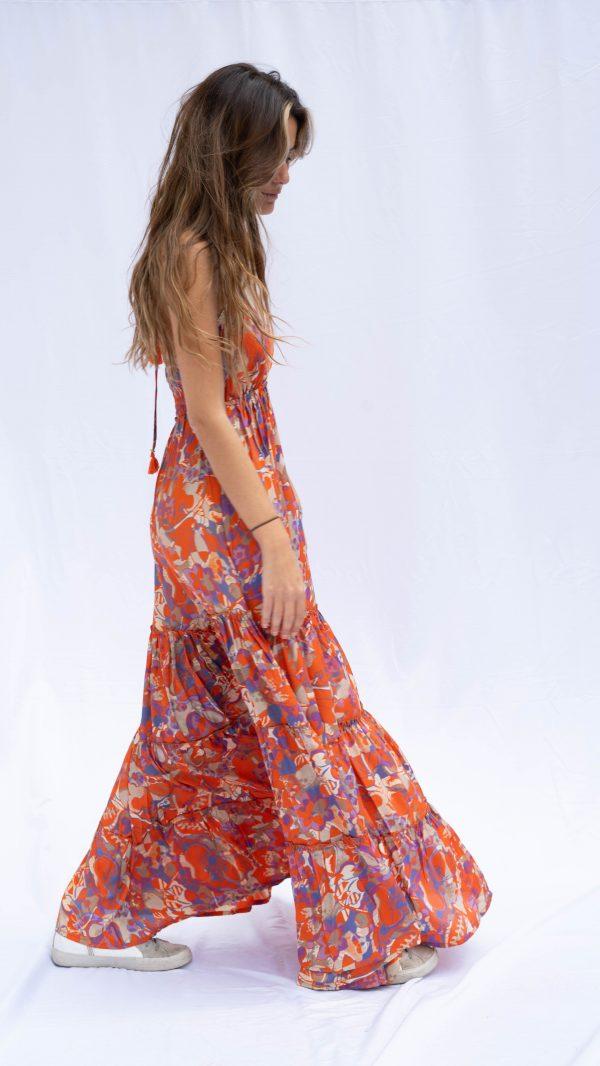 Vestido ageda Salambó lateral